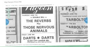 Sligo Champion June 82 - Those Nervous Animals #myfriendjohn